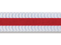ribbons with bonded flock